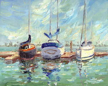 """San Diego Boats"" by Joan Boyer"